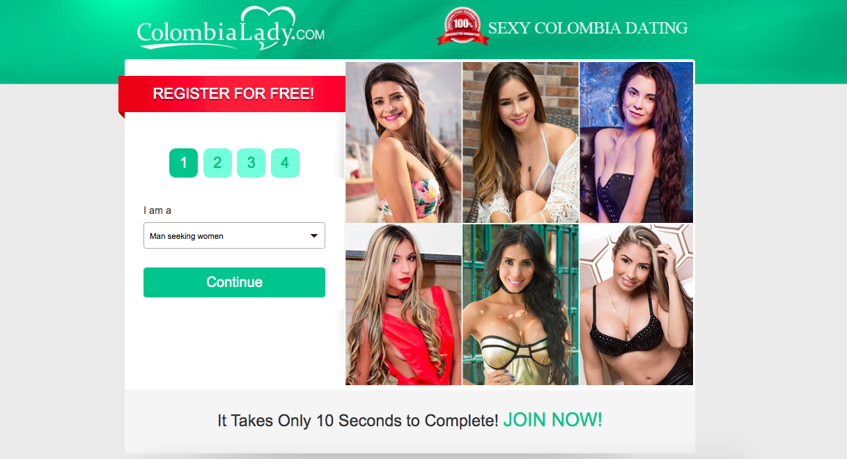 main page ColombiaLady