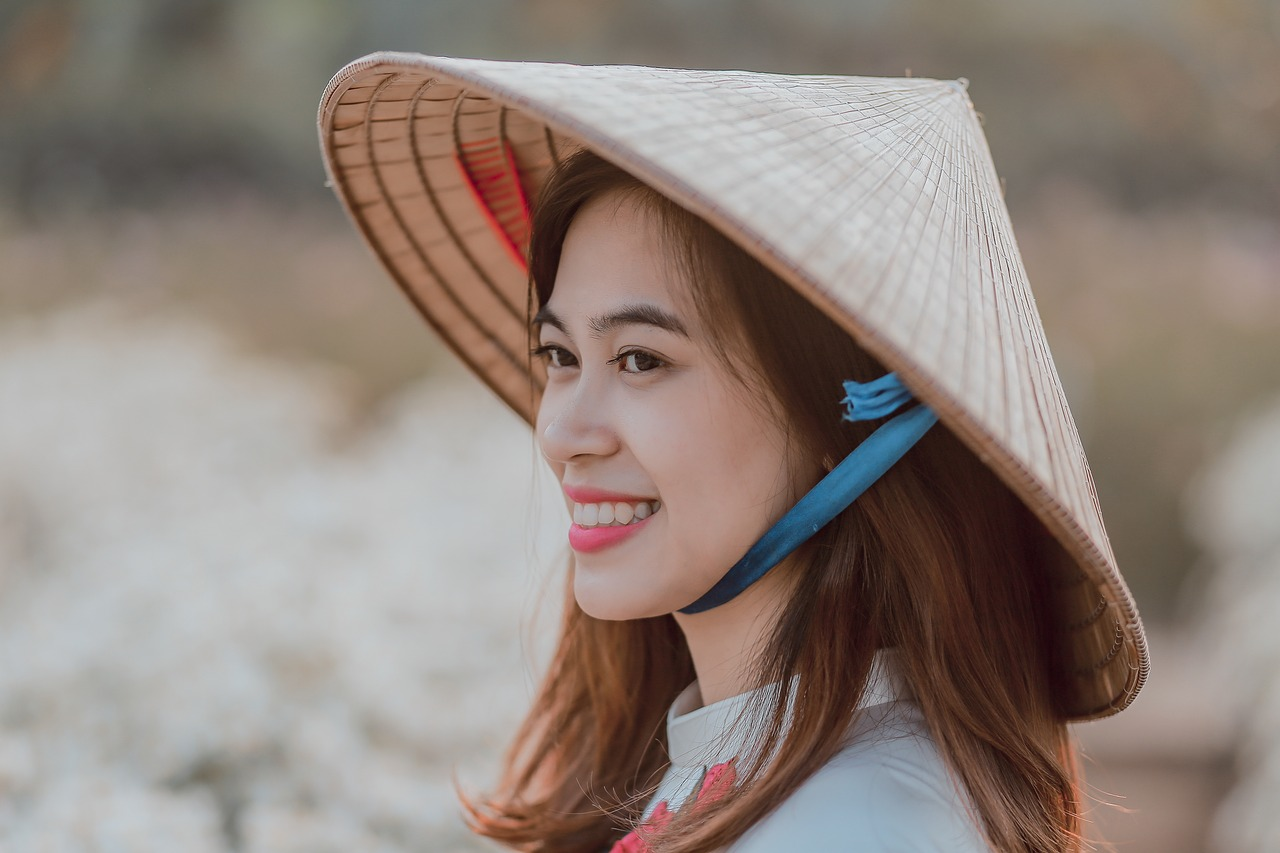 smiling Vietnamese girl