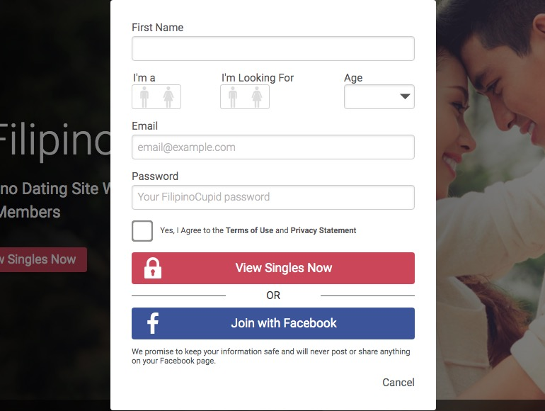 FilipinoCupid create account